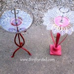 DIY Candle Holder Birdfeeders