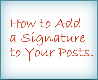 how to add a signature in hotmail 2013