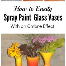 Ombre spray painted glass vases