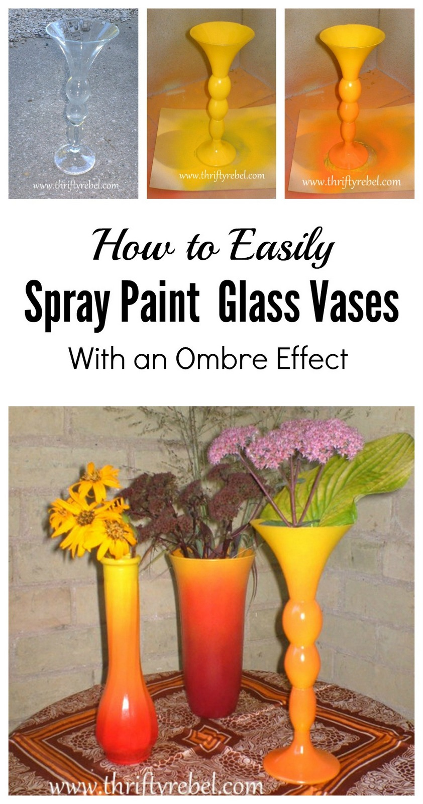 How to spray paint ombre fall vases thrifty rebel vintage how to spray paint ombre fall vases reviewsmspy
