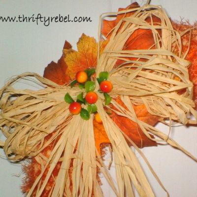 Faux Pumpkin Seed Fall Wreath