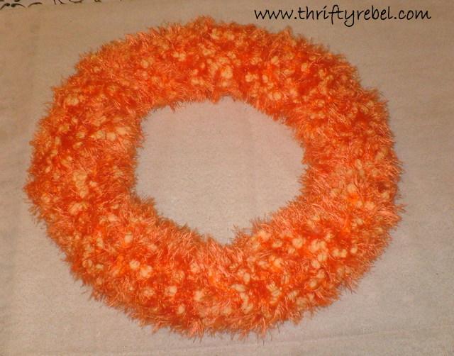 Scarf Faux Pumpkin Seed Fall Wreath