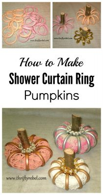 How to make shower curtain ring pumpkins