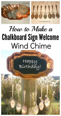 How to make a chalkboard silverware wind chime