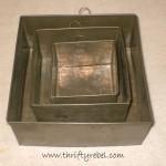 Vintage Baking Pan Shadow Boxes