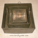 Vintage Baking Pan Shadow Boxes