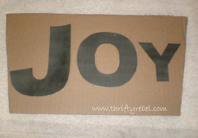 Vintage Baking Pan Joy Banner