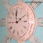 Shabby Chic Vintage Clock Makeover