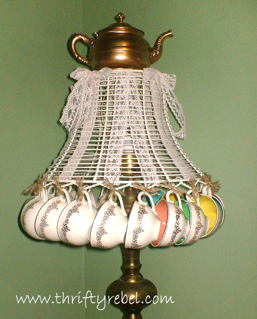 How to Make a Teacup Lampshade