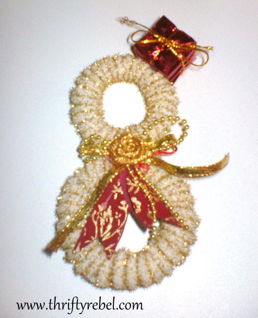 Curtain Ring Snowman Ornament