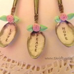Decoupaged Vintage Spoon Ornaments