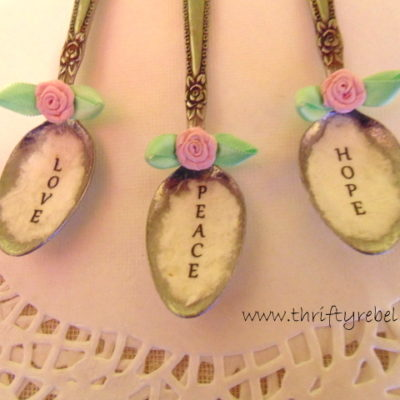 Decoupaged Vintage Spoon Ornaments