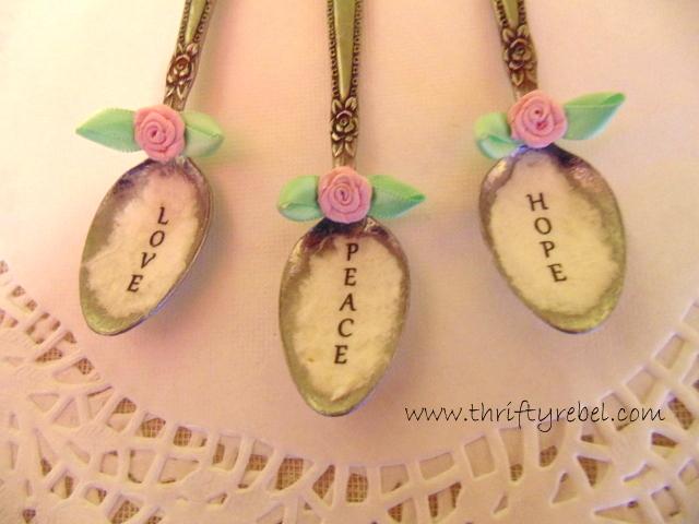 Decoupaged Spoon Ornaments