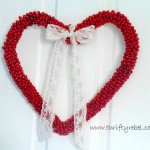 Easy Bead Garland Heart Wreath