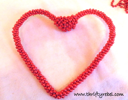 Bead Garland Heart Wreath