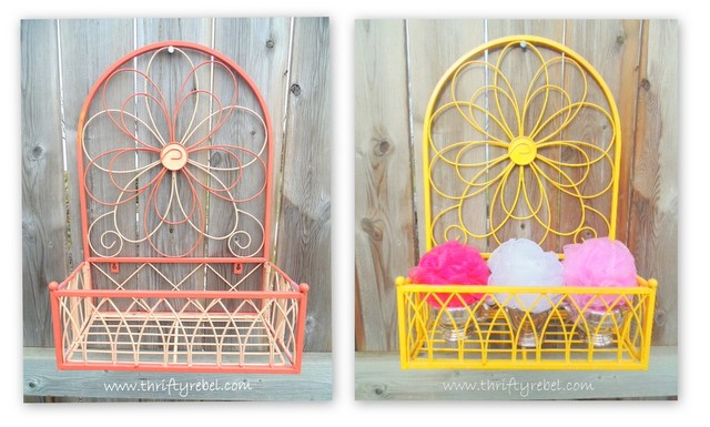 Vintage Metal Shelf Makeover