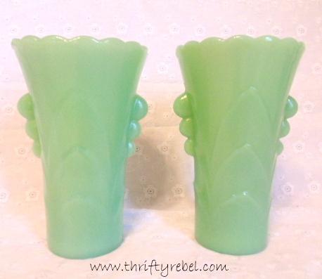 Jadeite Art Deco Vase