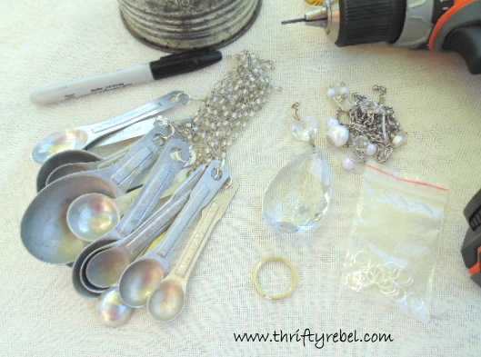 How to Make a Vintage Sifter into Wind Chimes