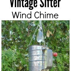 How to make a vintage sifter wind chime