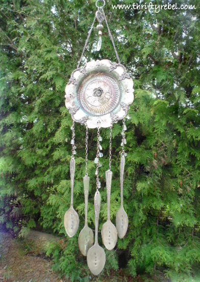 Vintage Silverware Hand Stamped Wind Chimes