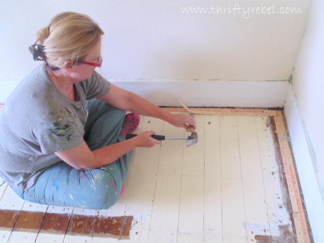 Master Bedroom Makeover Removing Carpet