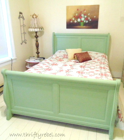 Master Bedroom Sleigh Bed Makeover