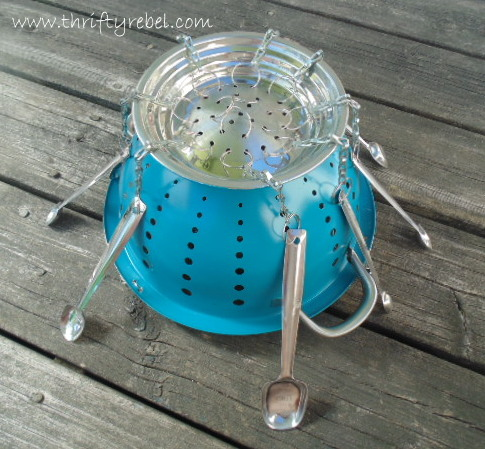 How to Make a Strainer Planter Wind Chime