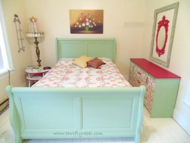 Toile Wallpaper Dresser Makeover