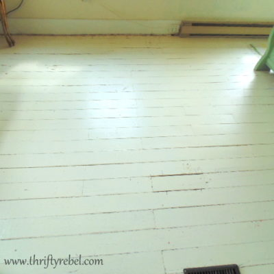 Painting an Antique Wood Floor