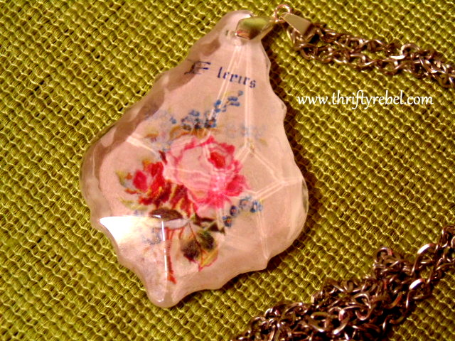 How to Make a Reverse Decoupaged Chandelier Crystal Pendant ...