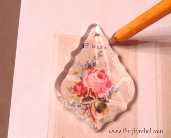 How to Make a Reverse Decoupaged Chandelier Crystal Pendant