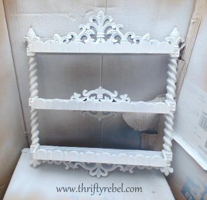 Vintage Shelf Makeover