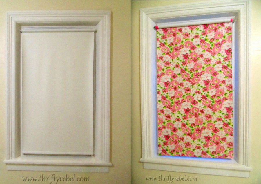 Diy Fabric Covered Vinyl Roller Shade Color Me Thrifty