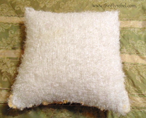 DIY Chenille Pillow