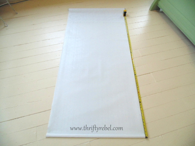 DIY Fabric Covered Vinyl Roller Shade