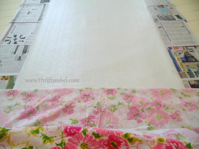DIY Fabric Covered Vinyl Roller Shade