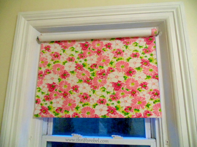 DIY Fabric Covered Vinyl Roller Shade - Thrifty Rebel Vintage