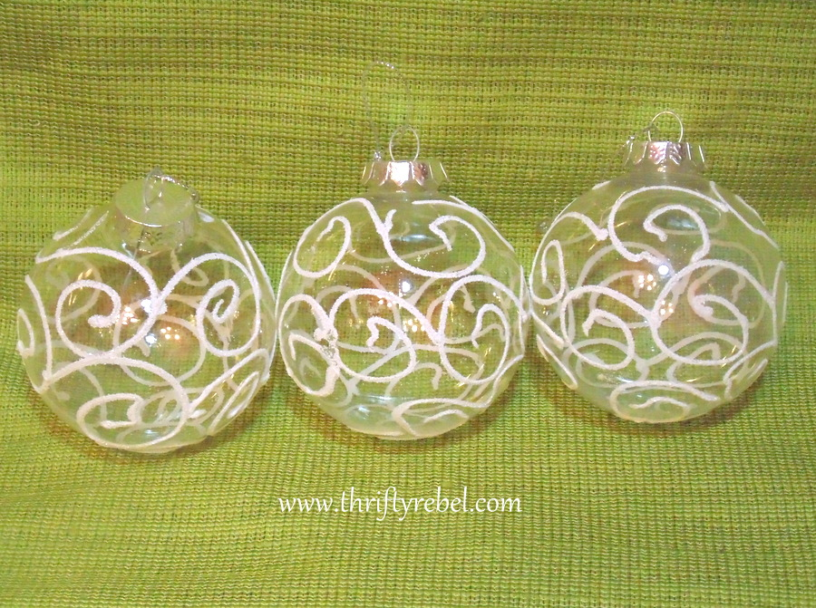 Clear Ball Scarf Ornaments
