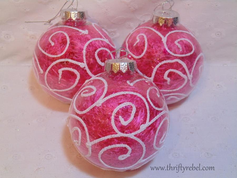 Clear Ball Scarf Ornaments