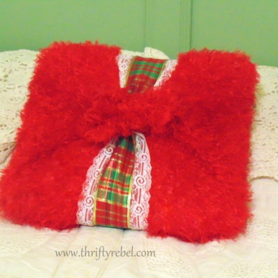 Easiest No Sew Christmas Pillow Cover Ever