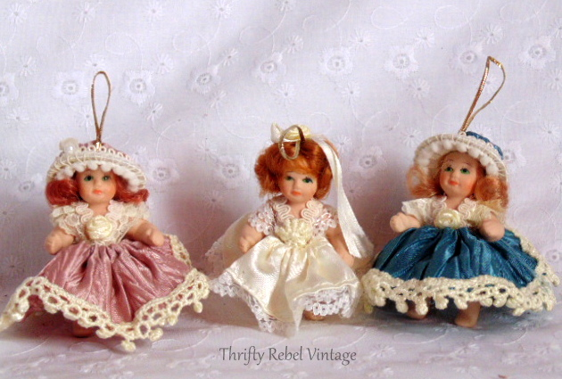 Porcelain Doll Ornaments