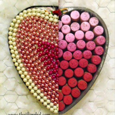 Reversible Heart Baking Pan Wreath