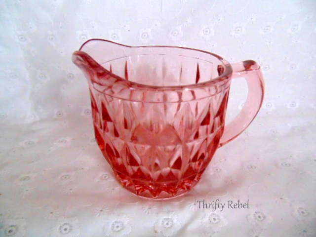 Pink Depression Glass Creamer