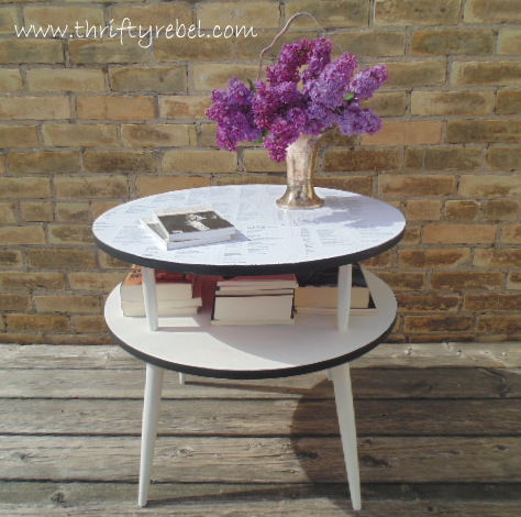 Decoupgaed Night Table Makeover
