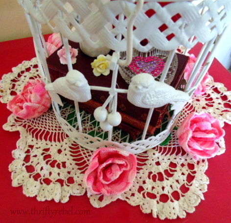 Painted metal Birdcage Makeover