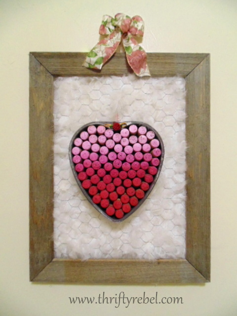 Vintage Baking Pan Heart Wreath