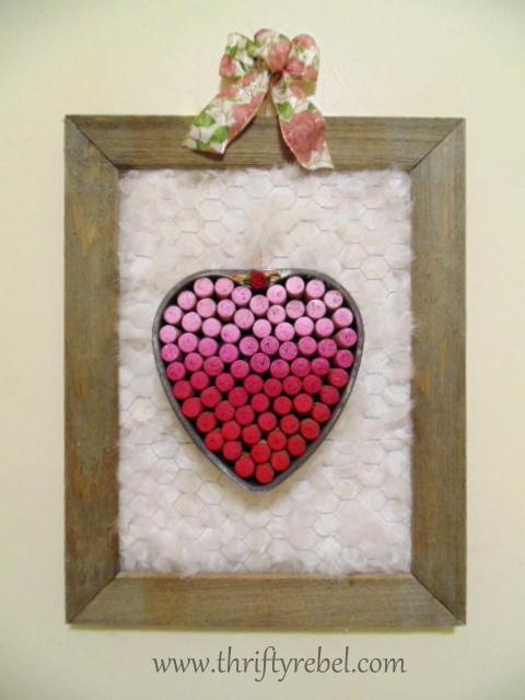 Vintage Baking Pan Heart Wreath