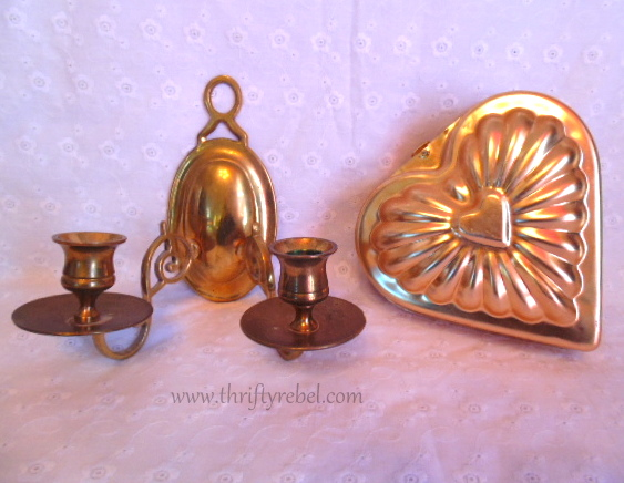 Wall Sconce and Heart Baking Pan