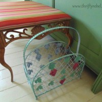 Vintage Magazine Rack Makeover and A Gift from a Friend