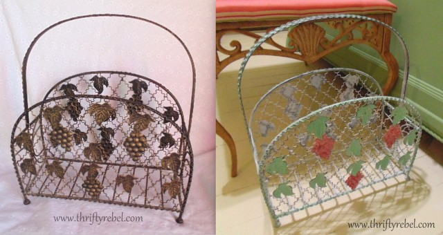 Vintage Magazine Rack Makeover